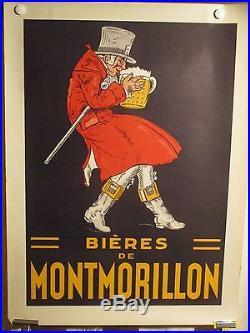 Affiche Biere Montmorillon Bonhomme Buvant