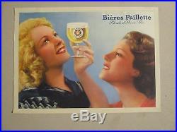 Affiche Biere Paillette Femmes Brune Blonde