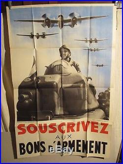 Affiche Bons Armement Avions Blinde Montage Photo