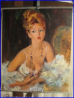 Affiche Brenot Soutien Gorge Lou Femme Superbe