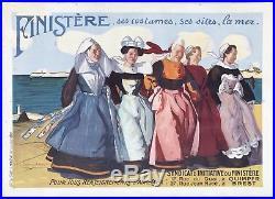 Affiche Bretonne Syndicat dIniative du Finistère /J-J Lemordant / Bretagne 1912