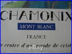Affiche CHAMONIX Mont Blanc 1972 SAMIVEL