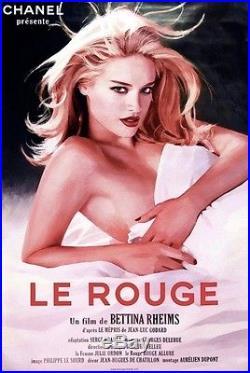 Affiche CHANEL Présente le Rouge Film de Bettina Reims d'après Le mépris