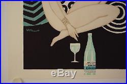 Affiche CONTREX Lithographie Ann.'70 illustr. VILLEMOT