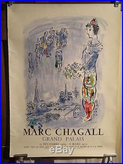Affiche Chagall Grand Palais Scene Paris Mourlot