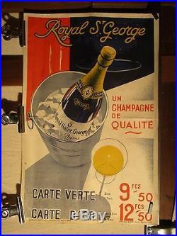 Affiche Champagne Seau Bouteille Deco