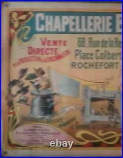 Affiche Chapellerie BRUYAS Rochefort (17) Lapin Années 1900 / 1920