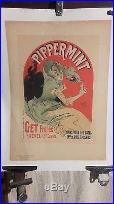 Affiche Cheret Pippermint Femme 1900