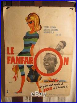 Affiche Cinema Italie Le Fanfaron Dino Risi Gassmann