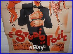 Affiche Cinéma Originale / Original Bourvil Le Studio En Folie 1946