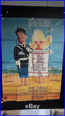 Affiche Cinema St Tropez Le Gendarme 1964