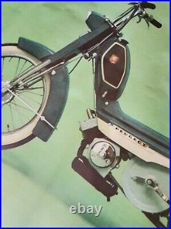 Affiche Concession Peugeot 103 vintage