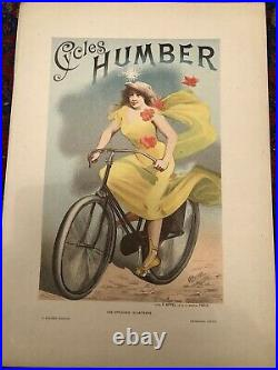 Affiche Cycles Humber Choubrac 1895