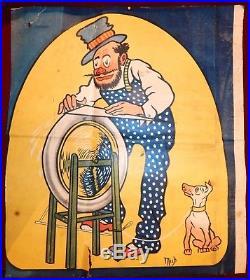 Affiche De Mich Pour Les Pneus Hutchinson, Sortie De Garage, Belle A Voir