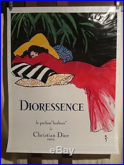 Affiche Dioressence Gruau Plastifiee Superbe