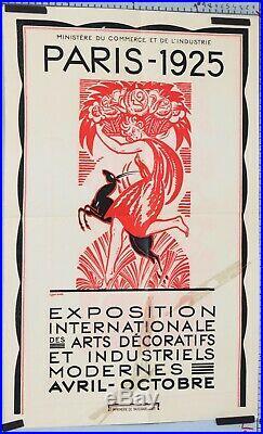 Affiche EXPOSITION INTERNATIONALE DES ARTS DECORATIFS ET INDUSTRIELS PARIS 1925