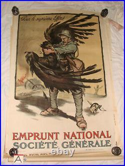 Affiche Emprunt national 1914-1918 illustrée par M. FALSER