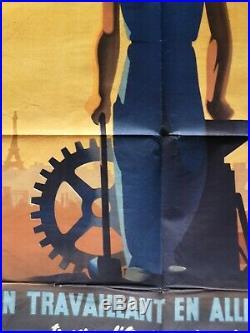 Affiche En Travaillant En Allemagne Originale Sto Propagande Ww2 Poster