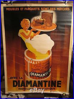 Affiche Encaustique Femme Deco