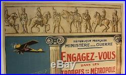 Affiche Engagez-vous Gendarmerie Aviation Train Artillerie Cavalerie Militaria