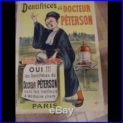 Affiche Entoilee Dentifrice Du Doc Peterson Sign2e Oge 1897 Imp. Verneau Paris