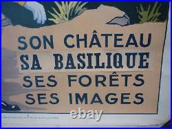 Affiche Epinal chemin de fer de l'est entoilée originale circa 1930