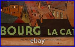 Affiche Ernest Schmitt Strasbourg La Cathedrale Chemins De Fer Alsace Z214