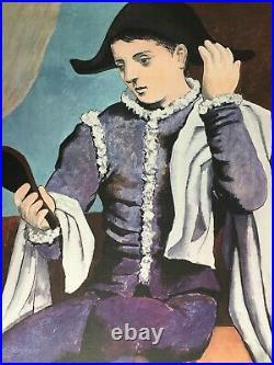 Affiche Exposition PABLO PICASSO Arlequin au Miroir KNOEDLER Mourlot 1971