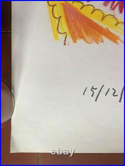 Affiche Exposition PABLO PICASSO Dessins Récent ARLEQUIN Mourlot 1969-71
