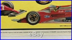 Affiche FERRARI F1 POSTER vendu en magasin CARTERIE SOUVENIRS Années 80 91x62cm