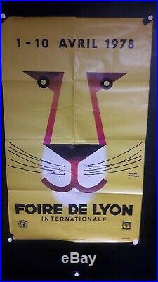 Affiche Foire De Lyon Graphique Herve Morvan
