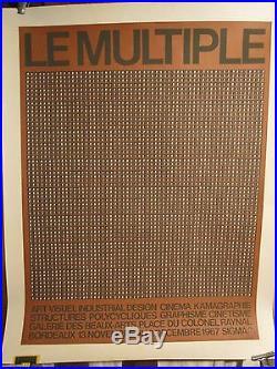 Affiche Folon Art Visuel Bordeaux 1967 Rare
