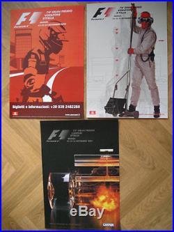 Affiche GRAND PRIX D'ITALIE F1 MONZA Lot de 3 affiches 2001-2002-2003