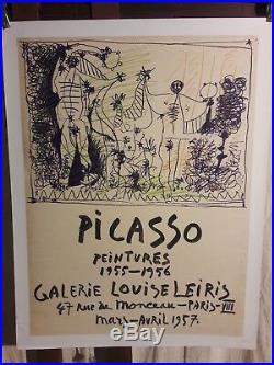 Affiche Galerie Picasso 1957 Louise Leiris