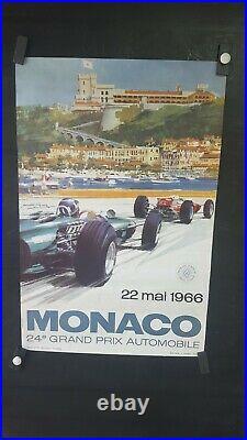Affiche Gp De Monaco 1966 Michael Turner