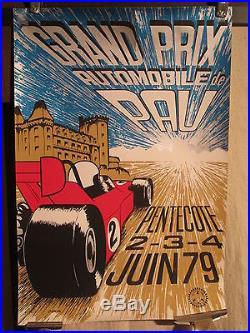 Affiche Gp De Pau 1979 Vitesse Couleur