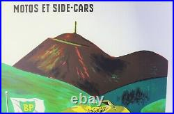 Affiche Gp France Moto Side 1960 Auvergne Clermont Ferrand Puy Dome Charade Bp