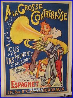 Affiche Grosse Contrebasse Bordeaux