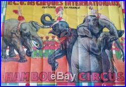 Affiche Hambourg Circus, La Cie des Cirques Internationaux, 110×152 cm