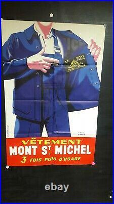 Affiche Homme Travail Vetements Mont St Michel