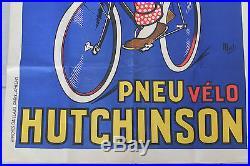 Affiche Hutchinson Mich Gaillard Paris 120 x 80 superbe état, no plaque émaillée