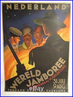 Affiche Jamboree Scout Hollande Deco Rare