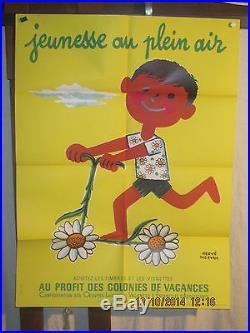 Affiche Jeunesse Trotinette Fleurs Morvan