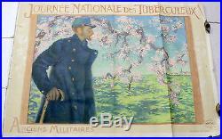 Affiche Journée nationale des tuberculeux déchirures Dimensions 80 x 112 c