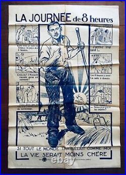 Affiche La Journée de 8h / 1919