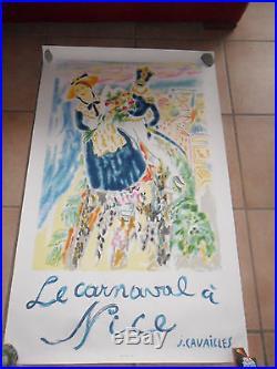 Affiche Le Carnaval à Nice de J. CAVAILLES