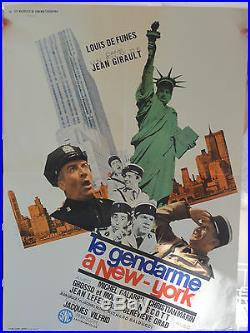 Affiche Le gendarme a New-York avec Louis de Funes Michel Galabru