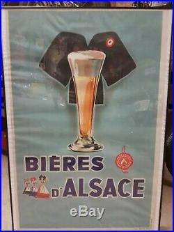 Affiche Les bières d'alsace 1955