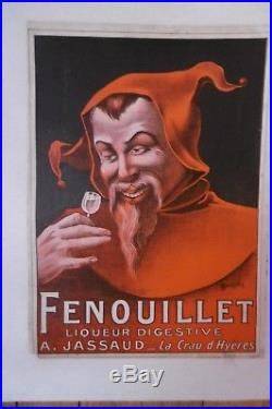 Affiche Liqueur Fenouillet Lutin Auzolle Hyeres