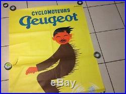 Affiche Litho Ancienne Cyclomoteurs Peugeot Jean-marie Annees 50/60